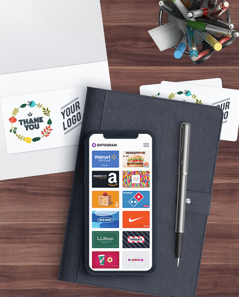 Create custom branded gift cards