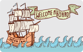Welcome Aboard Giftogram