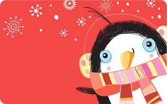 Penguin Holiday Giftogram